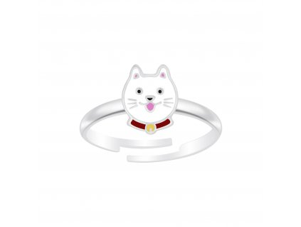 Dětský stříbrný prstýnek kočička  Ag 925/1000
