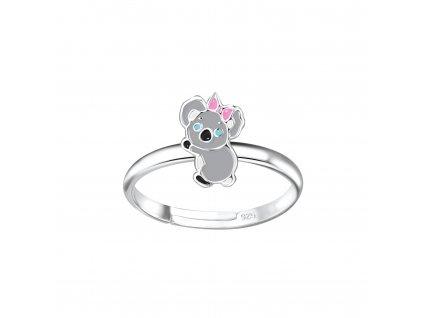 Dětský stříbrný prstýnek koala  Ag 925/1000
