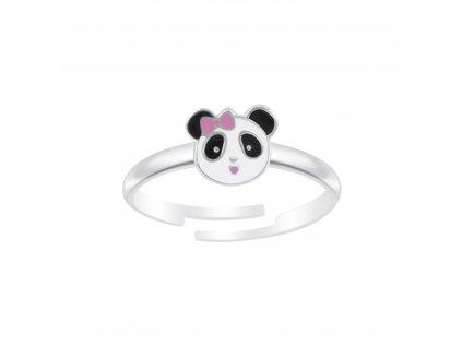 Dětský stříbrný prstýnek panda