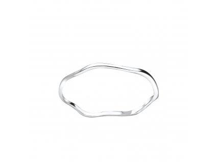 Stříbrný vlnitý prstýnek  Ag 925/1000