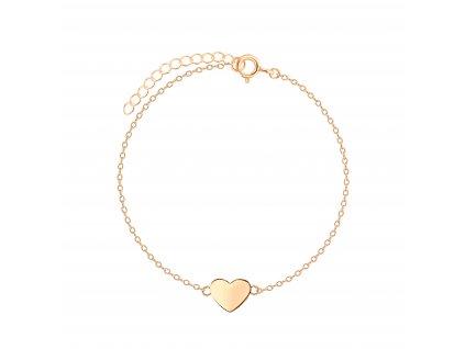 Pozlacený náramek Heart Rose  Ag 925/1000