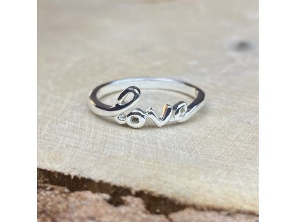 Stříbrný prstýnek LOVE  Ag 925/1000