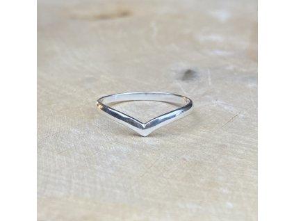 Stříbrný prstýnek Chevron 2  Ag 925/1000