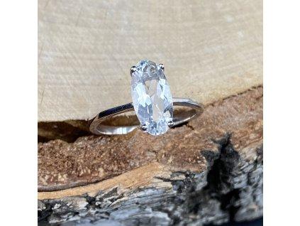 Stříbrný prsten La Precia s bílým Topazem  Ag 925/1000