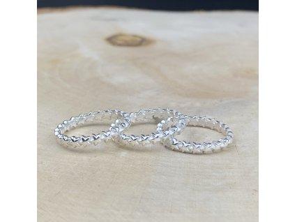 stříbrný prstýnek Star
