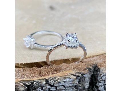 Zásnubní stříbrný prstýnek se Zirkony  Ag 925/1000