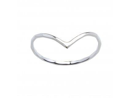 Stříbrný prstýnek Chevron 3  Ag 925/1000