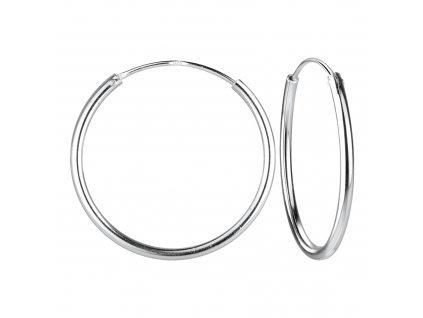 Stříbrné náušnice kruhy 25 mm  Ag 925/1000