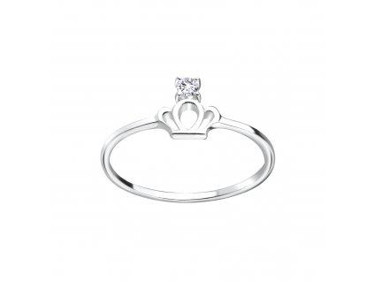 Stříbrný prstýnek Korunka se Zirkonem  Ag 925/1000