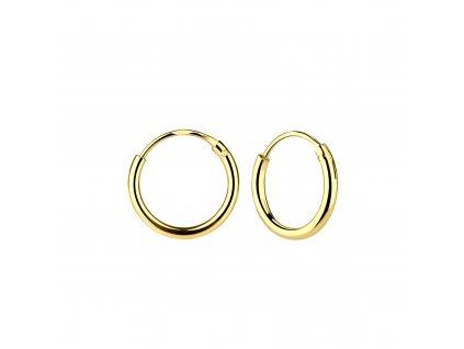Pozlacené náušnice kruhy 12 mm  Ag 925/1000
