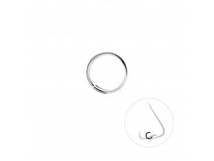 Stříbrný kroužek do nosu 10 mm  Ag 925/1000