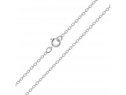 Stříbrný hladký řetízek 41 cm  Ag 925/1000
