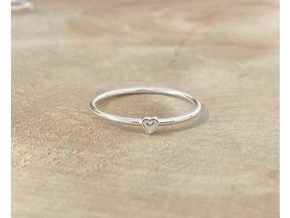 Stříbrný prstýnek Mini Heart  Ag 925/1000