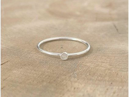 Stříbrný prstýnek Little Dot  Ag 925/1000