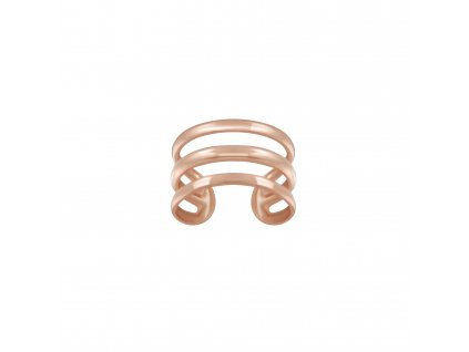 Rose Gold záušnice Triple Line  Ag 925/1000