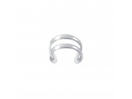 Stříbrná záušnice Double Line  Ag 925/1000