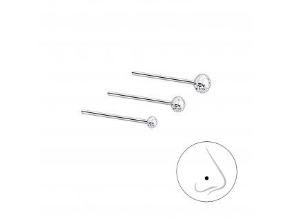 Stříbrný set piercingů IX - 3ks  Ag 925/1000
