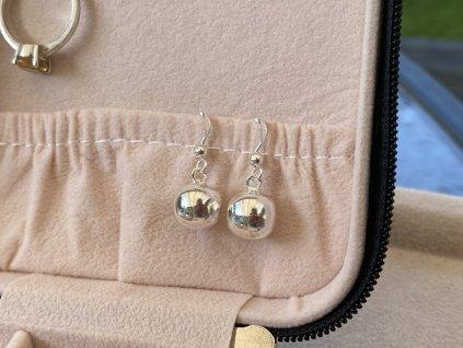Stříbrné náušnice Koule 10 mm  Ag 925/1000