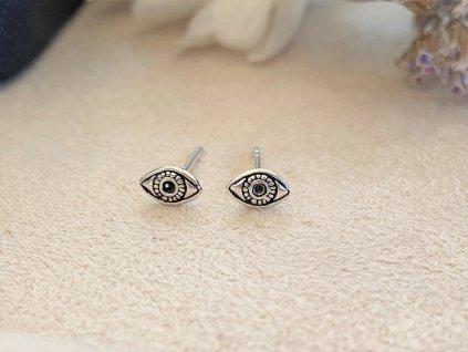 Stříbrná náušnice Evil Eye  Ag 925/1000