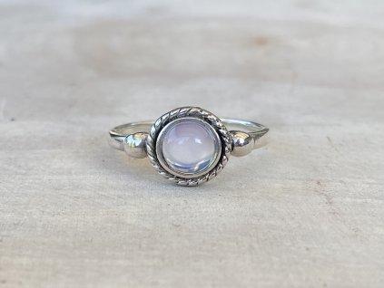 Stříbrný oxidovaný prstýnek s Měsíčním kamenem  Ag 925/1000