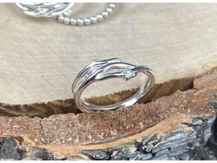 Stříbrný prstýnek Branch se Zirkony  Ag 925/1000