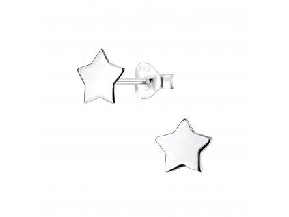 Stříbrné náušnice hvězdičky 7 mm  Ag 925/1000