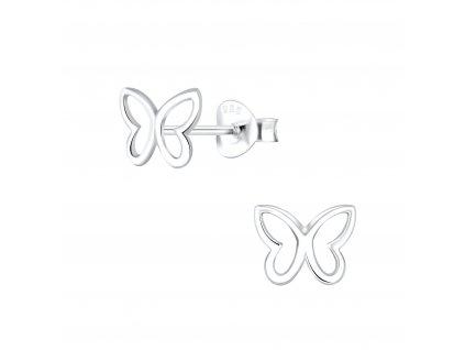 Stříbrné náušnice Motýl II  Ag 925/1000