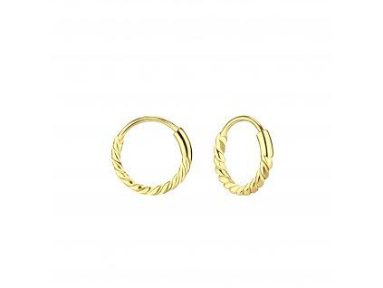 Pozlacené náušnice Bali kruhy 10 mm  Ag 925/1000