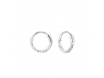 Stříbrné náušnice Bali kruhy 10 mm  Ag 925/1000