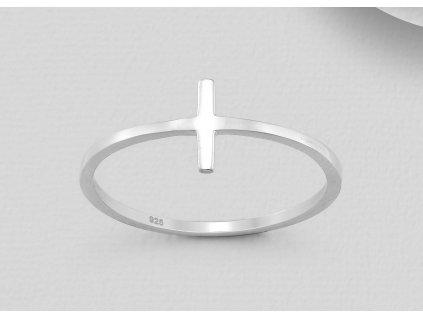 Stříbrný prstýnek s křížkem  Ag 925/1000