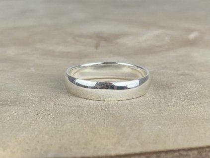 Stříbrný prsten pro muže 5 mm  Ag 925/1000