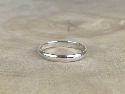 Stříbrný prsten kroužek 3 mm  Ag 925/1000