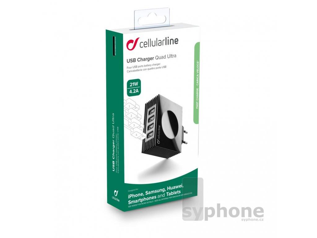 cellularline Quad 21W 4xusb titulka