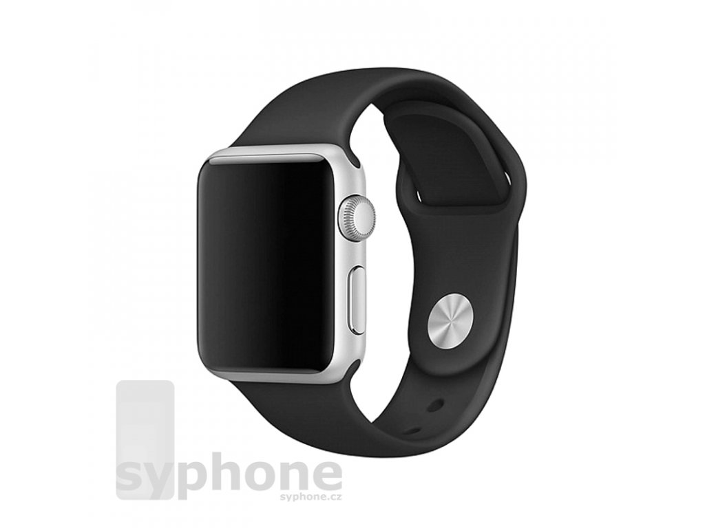 coteetci silicone sports band for apple watch 38 40 42 44mm black uvodka