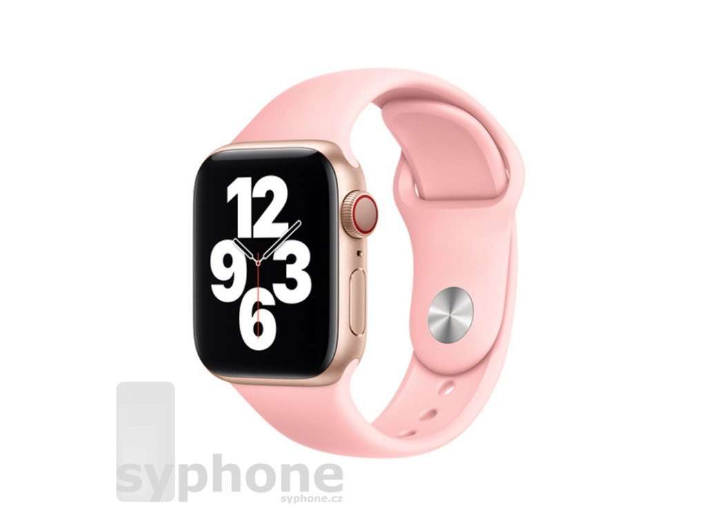 coteetci silicone sports band for apple watch 38 40 42 44mm light pink uvodka