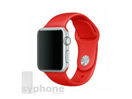 coteetci silicone sports band for apple watch 38 40 42 44mm red uvodka