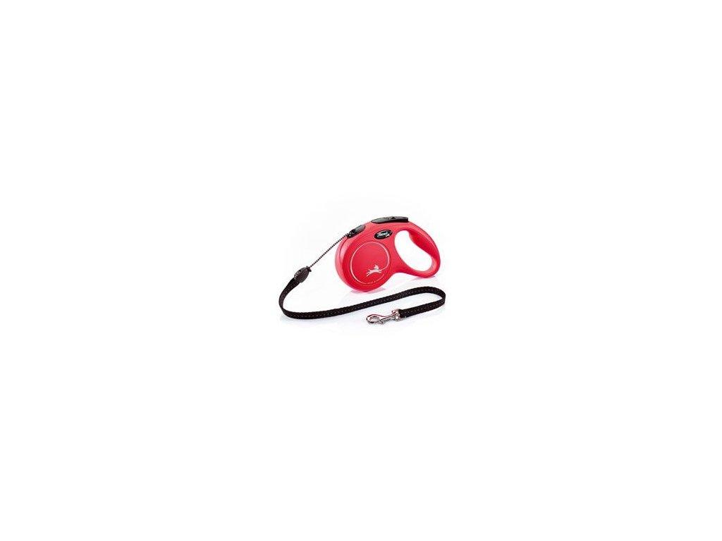 Vodítko FLEXI Classic NEW M lanko 5m/20kg červená