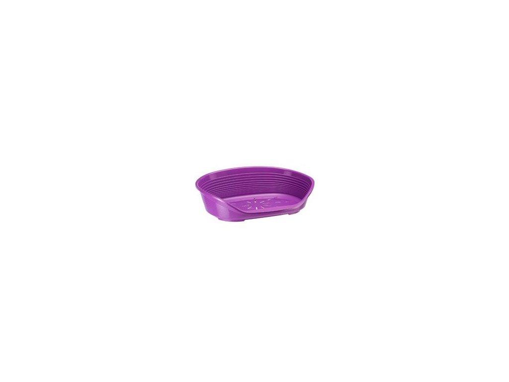 Pelech plast SIESTA DLX 10 fialový 93,5x68x28,5cm FP