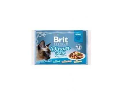 Brit Premium Cat D Fillets in Gravy Dinner Plate 340g