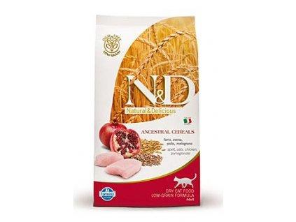 N&D LG CAT Adult Chicken & Pomegranate 300g