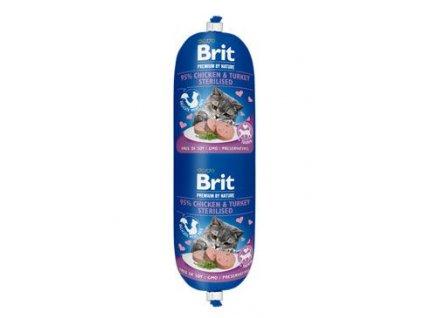 Brit Premium Cat by Nature Sausage Ch&T Sterilised180g