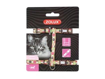 Postroj kočka ARROW nylon čokoládový Zolux