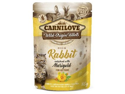 Carnilove Cat Pouch Kitten RabbitEnriched&Marigold 85g