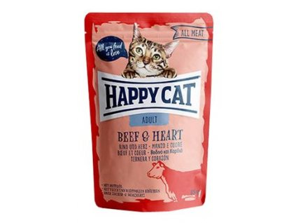 Happy Cat kapsa All Meat Adult Rind & Herz 85g