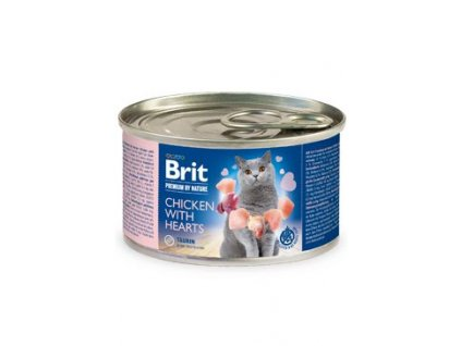 Brit Premium Cat by Nature konz Chicken&Hearts 200g