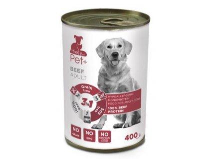 Dibaq Dog Pet+ konz. Adult Beef 400g