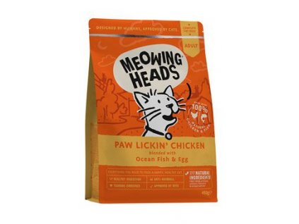 MEOWING HEADS Paw Lickin' Chicken 450g