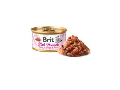 Brit Cat konz Brit Fish Dreams Tuna , Carrot & Pea 80g