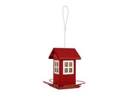 Budka krmítko HOUSE kovová červená Zolux