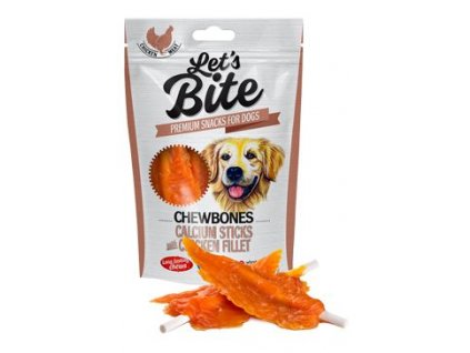 Brit Let's Bite Chewbones Calcium & Chicken Fillet 80g